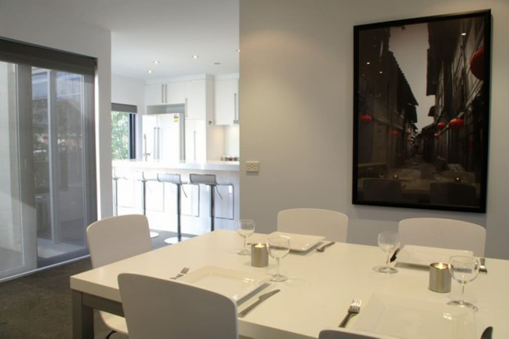 A lovely dining space is offered