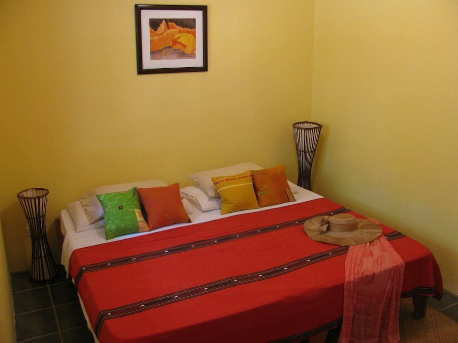 Double bed or optionally bunk bed in second bedroom.