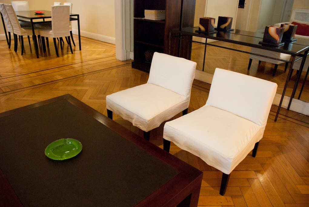Living Room - coffee table & chairs