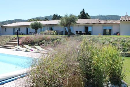 Air-conditionned villa with spa pool quiet calm - Labastide-en-Val - Rumah
