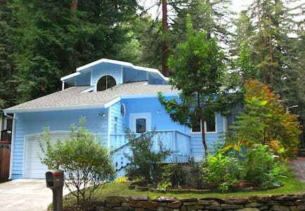 """Blue Cherry"" a light-filled beautiful home! Plenty of room for 9 of your very favorite people. Explore the part of the Sonoma Wine Country.The River is a 4 minute drive, Armstrong Woods a 7 min away, Pacific Ocean is 20 min away! Relax, Replenish!"