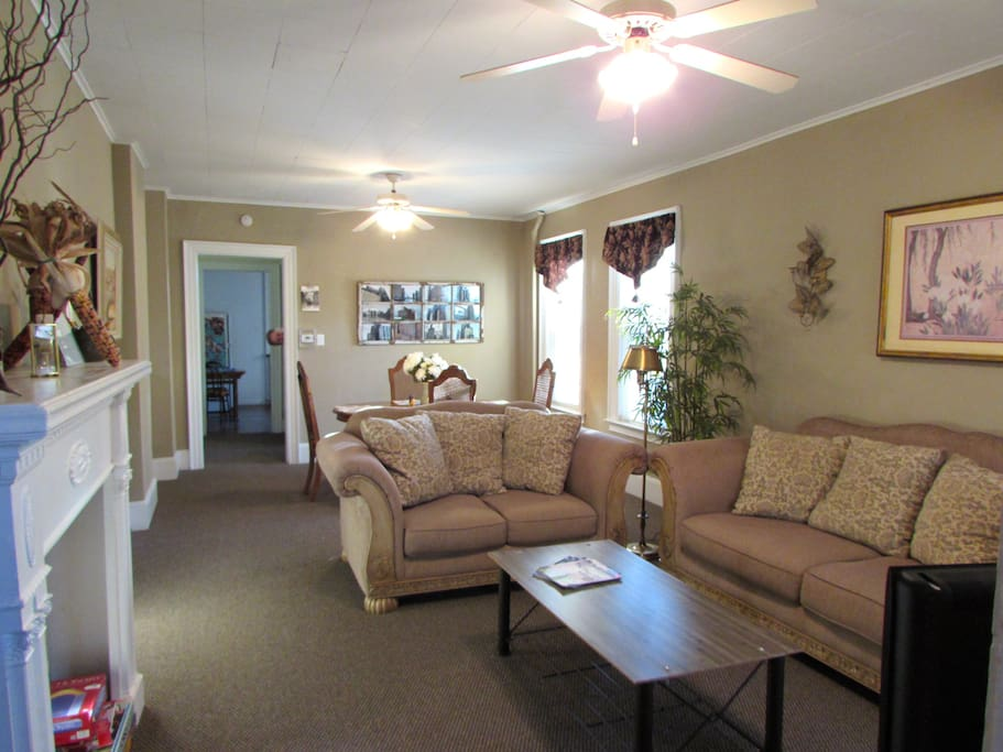 Living and Dining area as you walk into the house