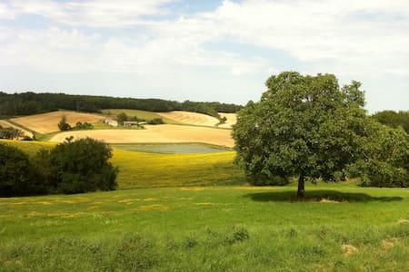 Jolie maison au calme & sublime vue - Berrac - Hus