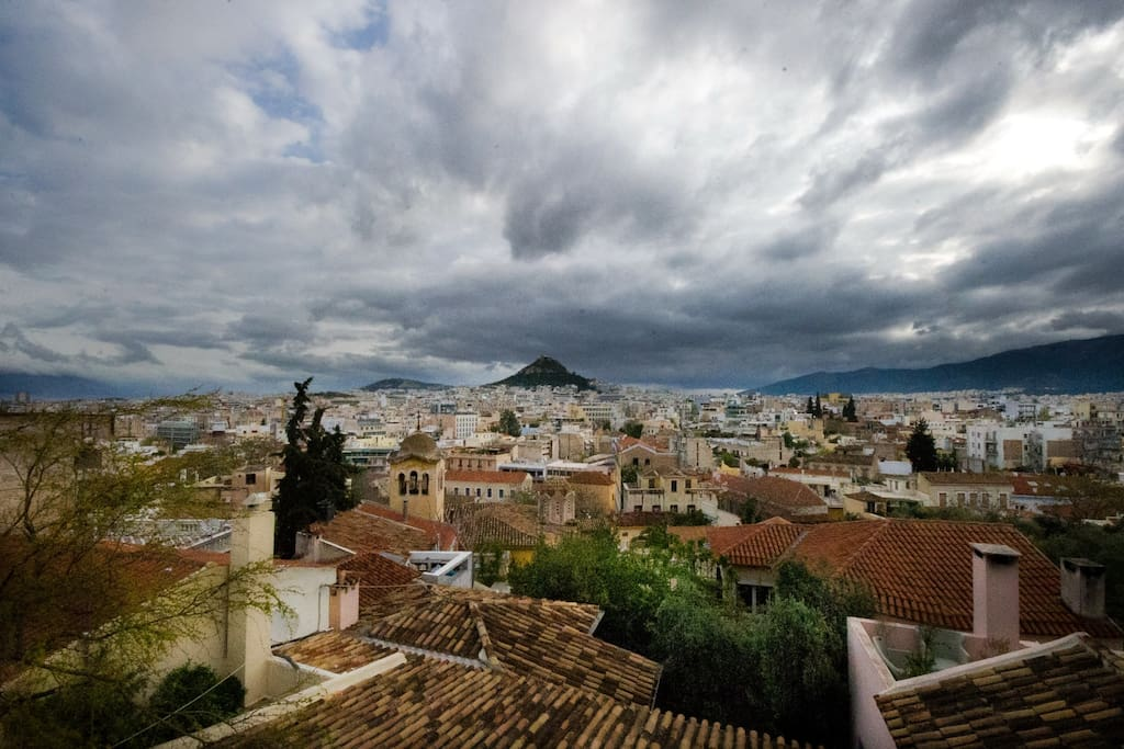 View of Athens from the terasse!