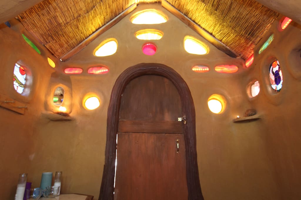 LED lights inside the stainglass