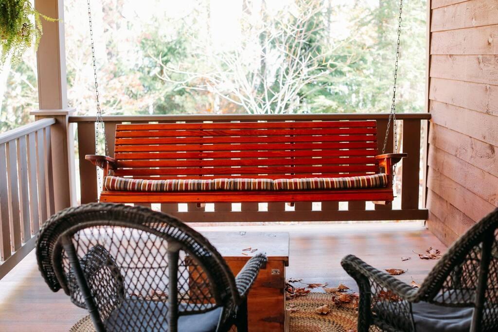 Inviting Porch Swing.