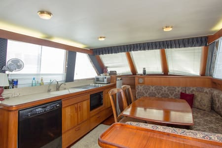 Boat/private room and insuite bath. - Little River - Barco