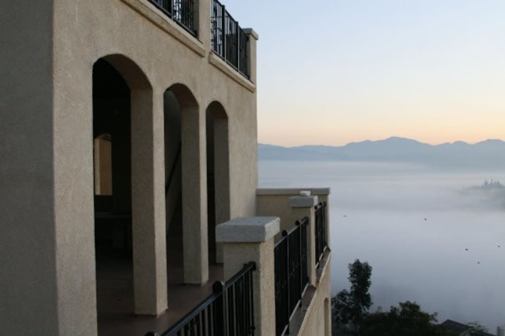 2 large balconies with views above the clouds