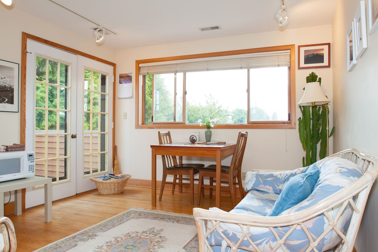 Sitting room with French doors to your own private view deck!
