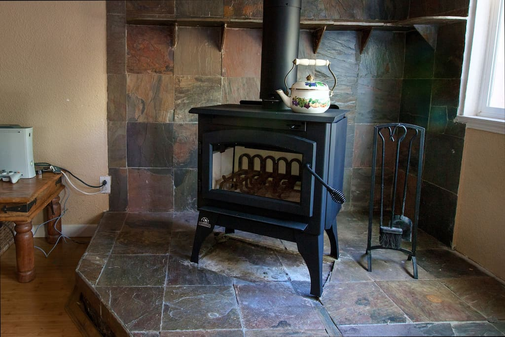 Cute wood-burning stove to help keep you warm during those winter nights.
