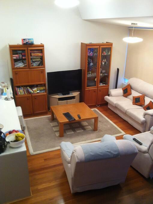 Living Area. 50inch Panasonic TV.
