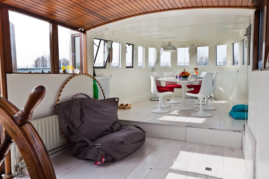 houseboat amstel river next to park boats for rent in