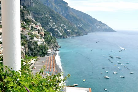 Villa Elvi is a spectacular apartment for 4 guests, situated in the heart of Positano, close to the street, the town centre and the beaches. It has got: 2 bedrooms, 2 bathrooms, a livingroom, a kitchen, a wonderful sunny terrace with sea view.  A/C.