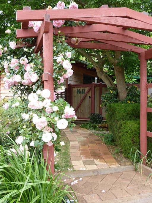 Studio entrance.