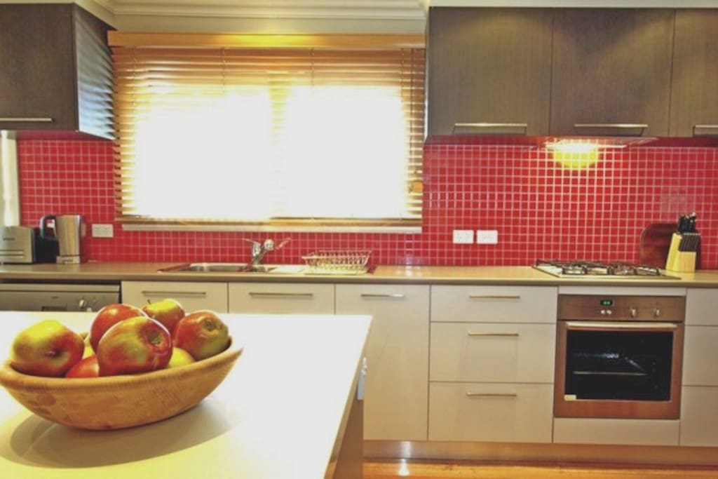 You'll find a fully equipped modern kitchen, for your convenience