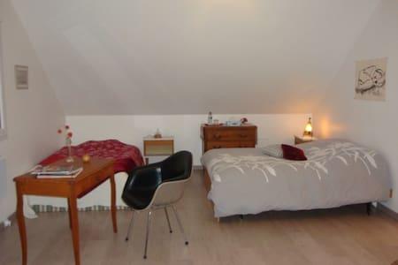 Chambre cosy et spacieuse avec SDB contiguë - House