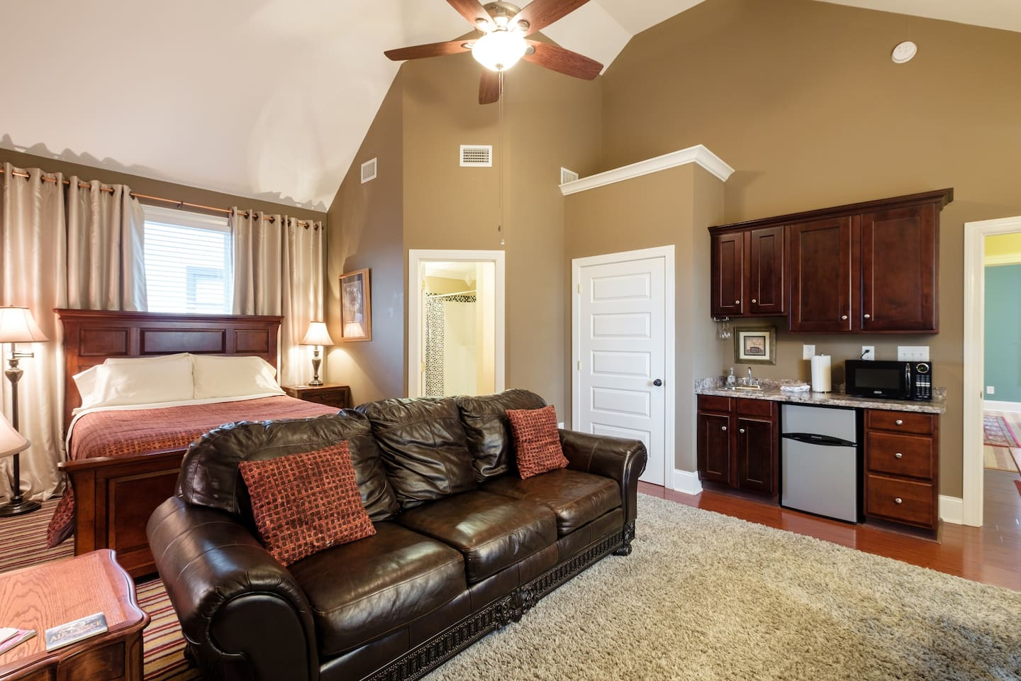 Love the vaulted ceilings!!