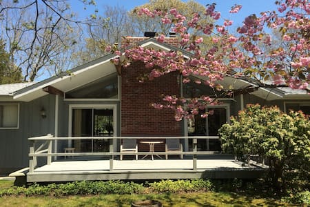 Bright, Clean, Cozy Room with Pool - East Hampton - Huis