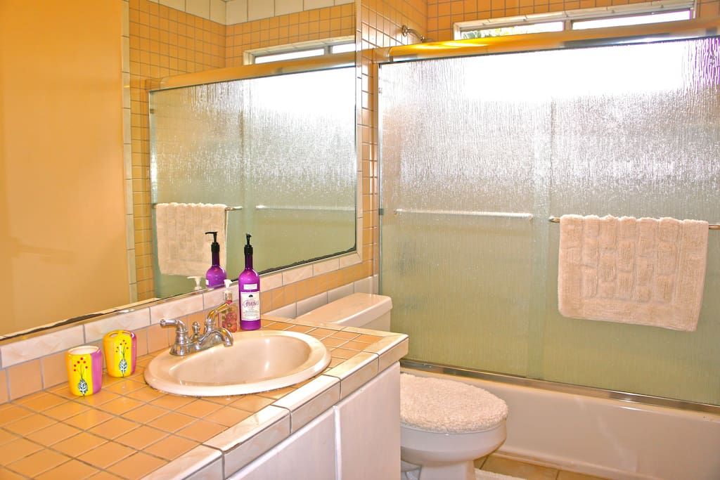 Shared bathroom w/ one other room.