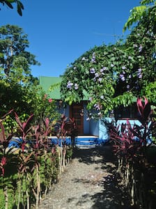 Comfortable cabin with spacious private porch in a jungle garden,acomodates four. The cabin  are located about 500 mts.(6 minutes walk) from the center of the village and  to National Park and beaches.