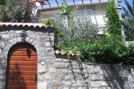 Sea-side Old Stone Villa with a Private Garden - Petrovac