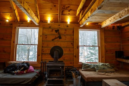 Off the grid log cabin in 100 acres - Labelle