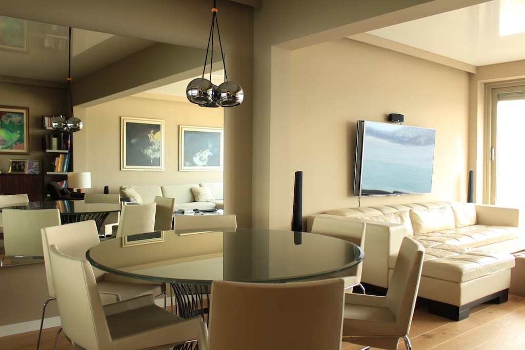 The lounge and dining table