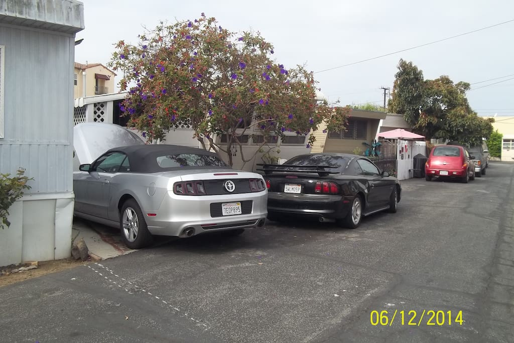QUAINT LITTLE TRAILER PARK**       YOUR PARKING SPOT IS WHERE THE SILVER   MUSTANG IS Steps from your own private entrance