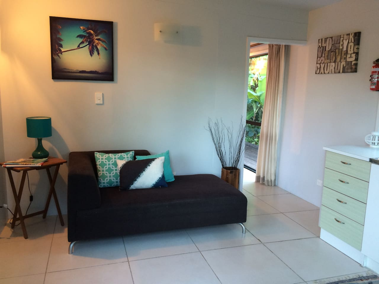 Small lounge and kitchen area