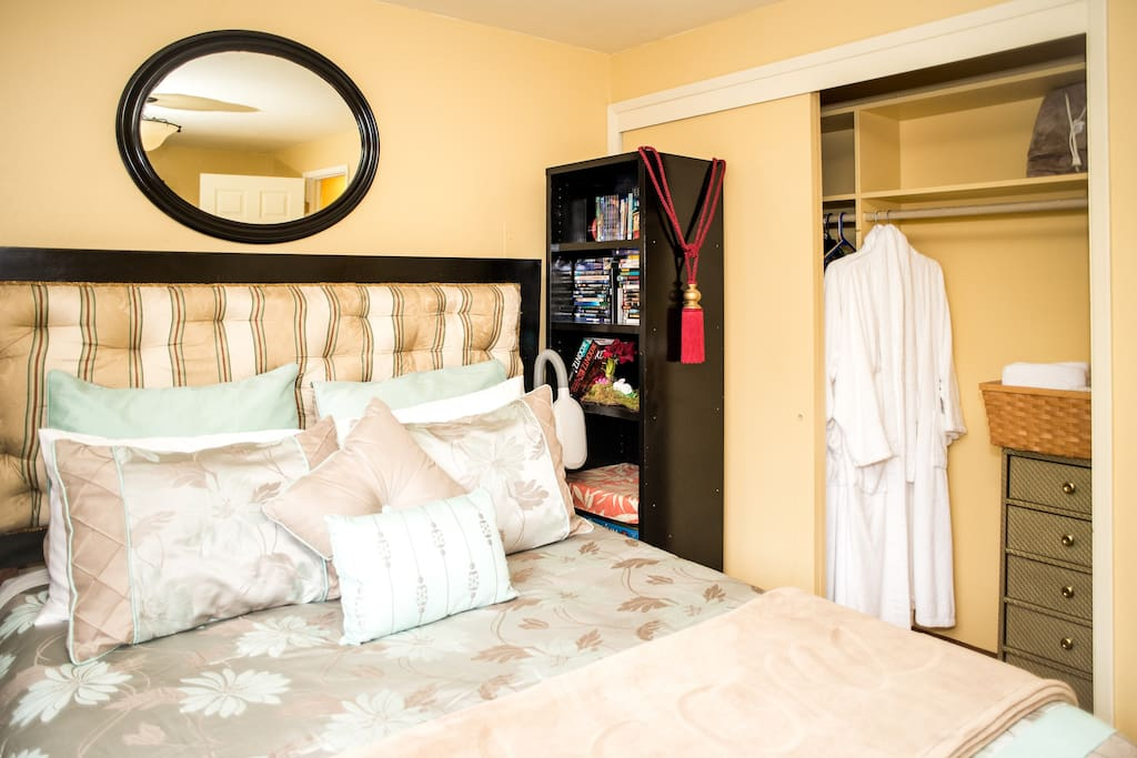 Guest Room Closet with Terry Cloth Bathrobes.