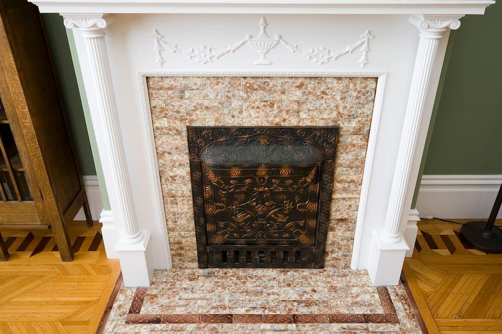 Living Room Tile Fireplace