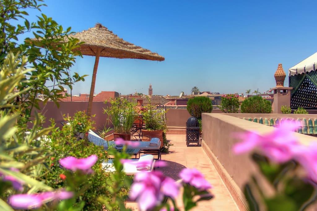 La terrasse du Riad