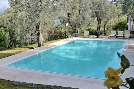 Villa Lake View With Pool Garden And Tennis Court - Torri del Benaco - Villa
