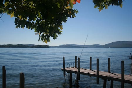 Charming Sunlit Cottage- Right on the Lake - Wolfeboro - Hus