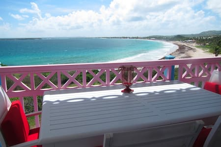 Beachfront oceanview Antigua studio - Orient Bay - Daire
