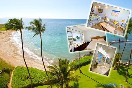 NEW - Penthouse: Ocean View - Right on the Beach! - Kihei - Condominium