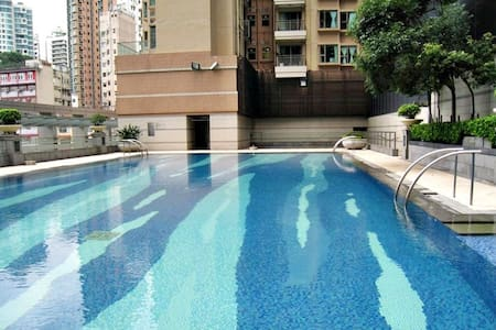 Spacious luxury 1 bedroom with garden view Wanchai - Ortak mülk