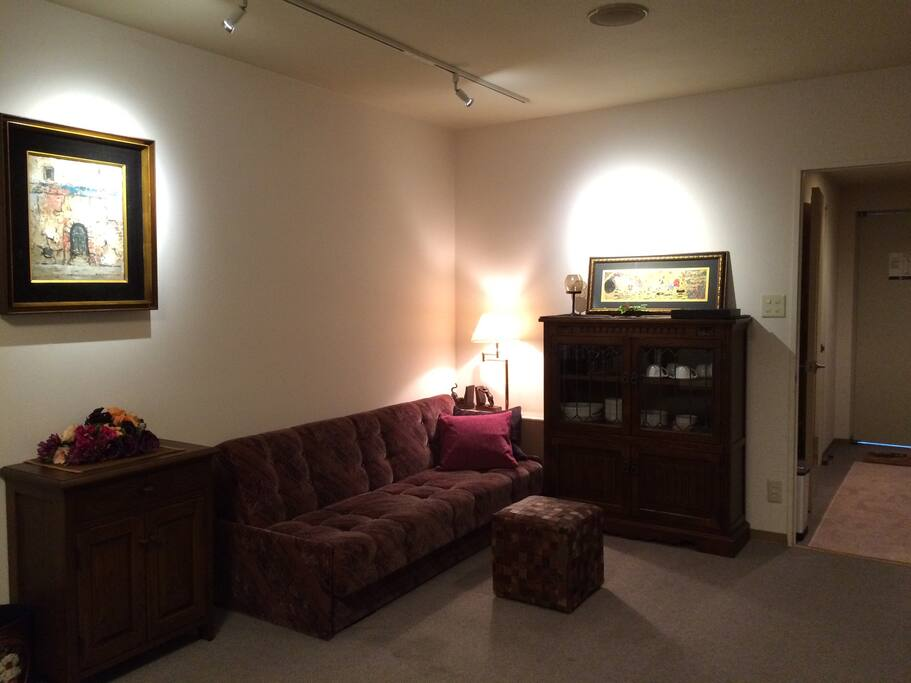 Living room& sofa bed リビング、ソファーベッド