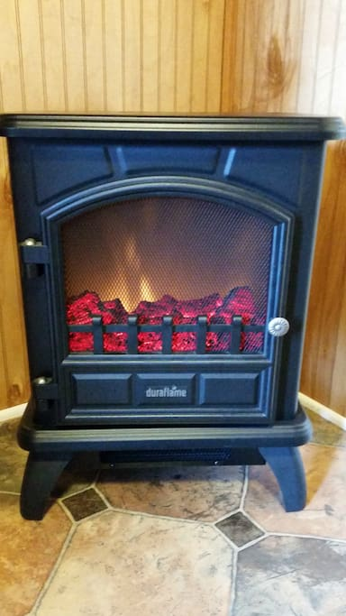 Safe electric heater to keep you toasty in winter.