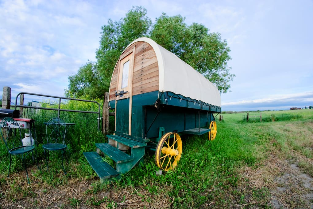 The Brussett wagon, named for the town it came from near Fort Peck.