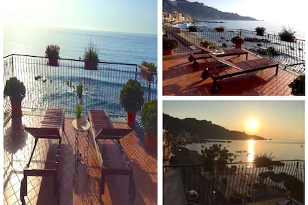 SEA FRONT APARTMENT with terrace - Taormina - Apartment