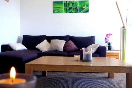 Charming flat with one bedroom of 40ft2, very welcoming and cozy, on the heights of Cannes. Nevertheless close to downtown, the environment is very quiet and relaxing. There is a pleasant terrace for sunny breakfasts and a forest park 5 minutes walk.