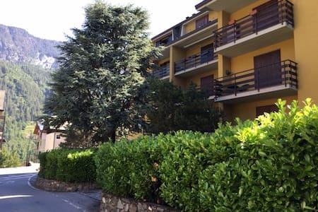 Trilocale spazioso con camino, balcone e box auto - Caspoggio - Wohnung