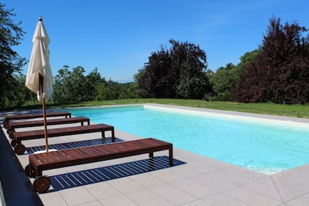 Piedmontese country home with pool - Portacomaro - Casa