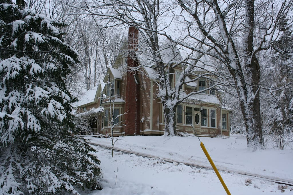 Our home, winter scene.