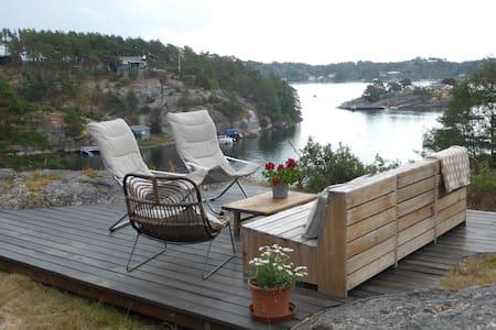 Oceanfront Cabin at wonderful Hankø - Cabin