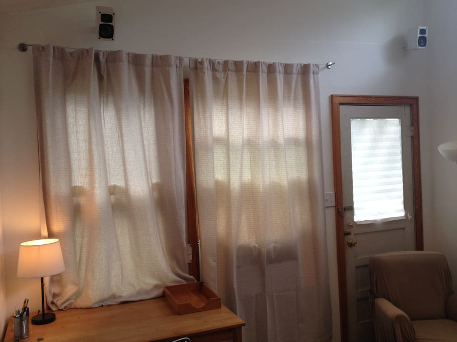 Brand new curtains for complete privacy.