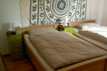 """gemütliches Doppelzimmer """"Afrika"""" Blick ins Grüne"""