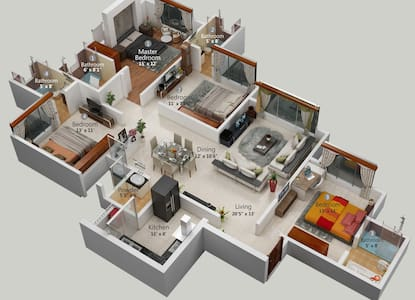 BEST AFFORDABLE SPACIOUS 3 BHK - Lejlighed
