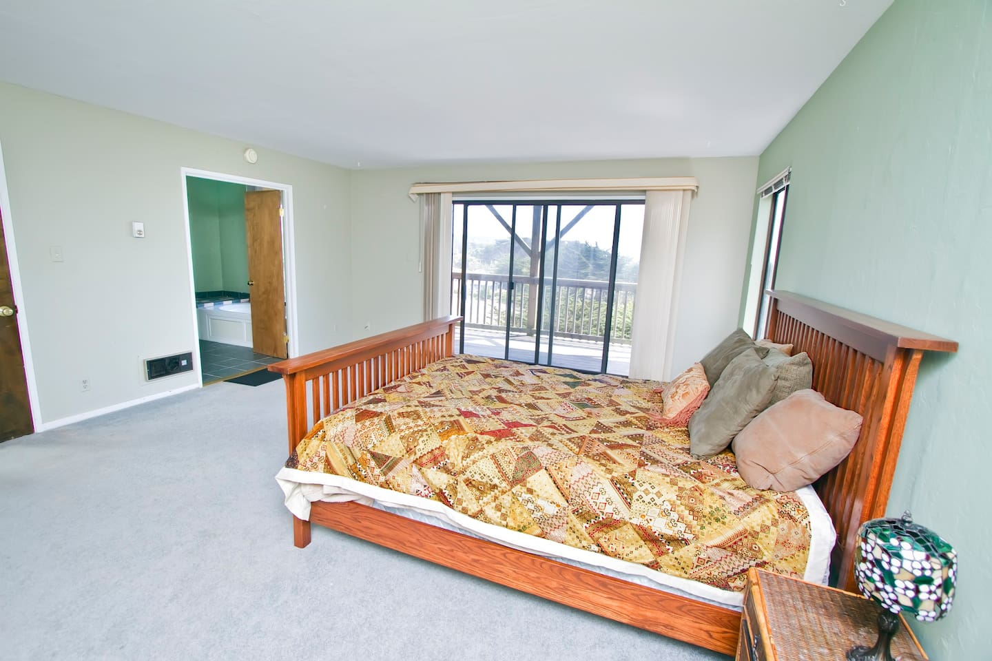 Beautiful Spacious Master Suite Bedroom with a private bathroom.